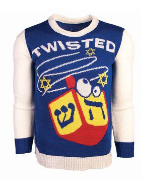 Chanukah Twisted Dreidel Ugly Sweater