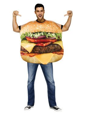 Cheeseburger Adult Costume One-Size
