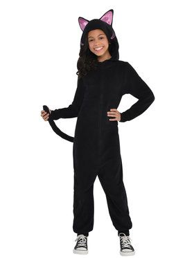 Child Black Cat Onesie Costume