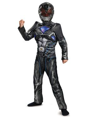 Child Muscle Classic Black Power Ranger Costume