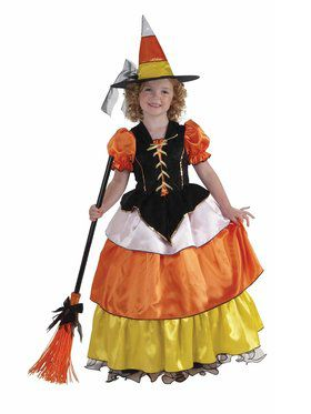 Candy Corn Witch Costume for Children