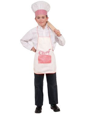 Child Chef Hat and Apron Set