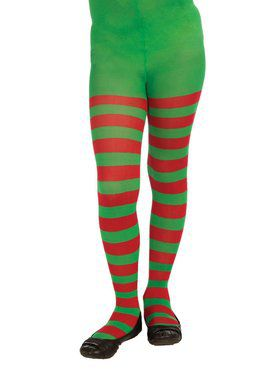 Child Christmas Stripe Tights