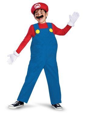 Mario (Super Mario Bros) Costume Deluxe for Kids
