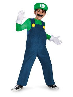 Luigi (Super Mario Bros) Costume Deluxe for Kids