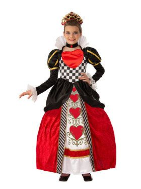 Queen of Hearts Girls Super Deluxe Costume