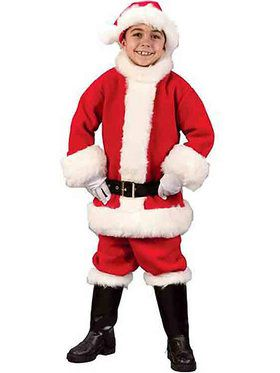 Child Flannel Santa Suit Costume