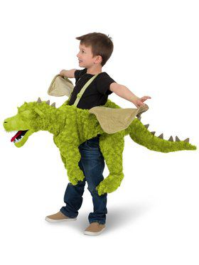 Child Green Ride - In Dragon Costume