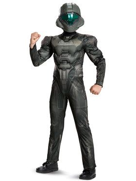 Child Muscle Classic Spartan Buck Halo Costume
