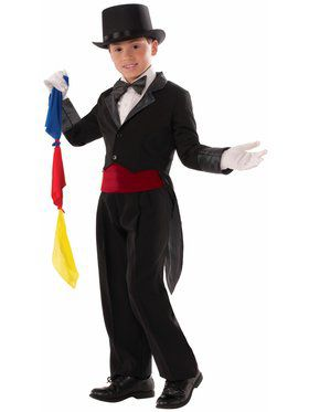 Child Magician Tailcoat - Med Costume