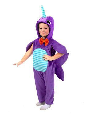 Child Minky Narwhal Costume