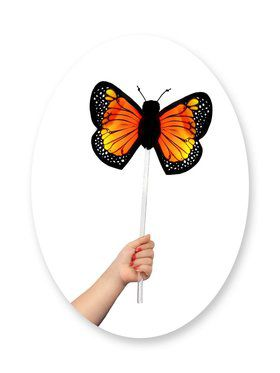 Child Monarch Butterfly Wand