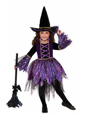 Child Mystic Amethyst Witch Costume