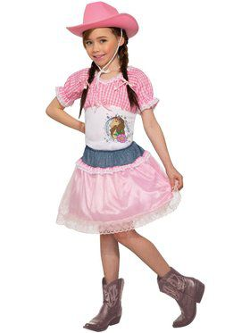 Child Pink Cowgirl Costume