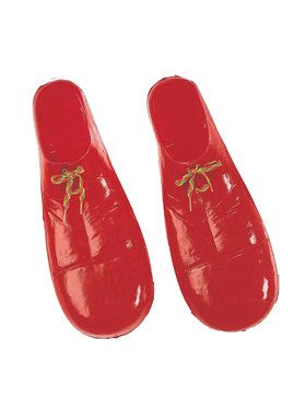 Child Plastic Clown Shoes - Red