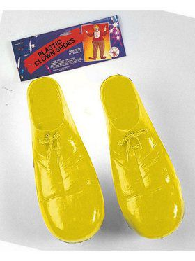 Child Plastic Clown Shoes - Yellow