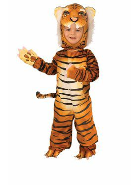 Child Plush - Orange - Tiger Costume