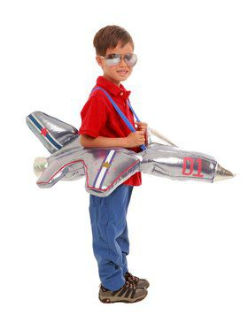 Child Plush Ride - In Airplane Costume