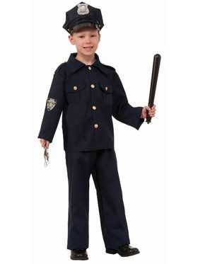Child Police Boy Costume