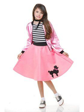 Child Poodle Dress - Pink