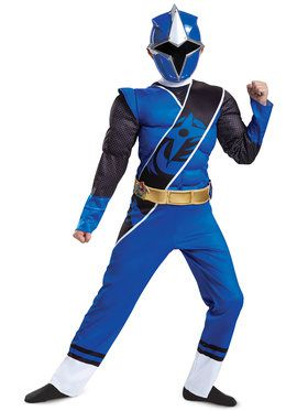 Muscle Child Blue Ranger Ninja Steel Power Rangers Costume