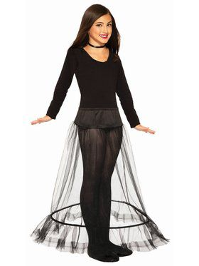Child Princess Length Crinoline - Black