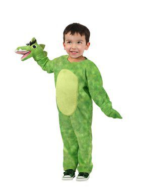 Child Puppet Pals Green Dino Costume