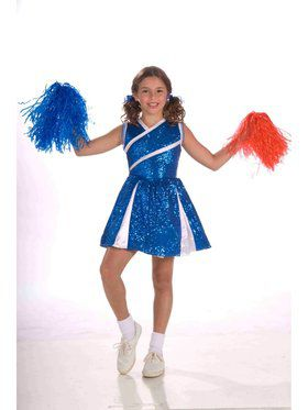 Child Sassy Cheerleader - Blue Costume