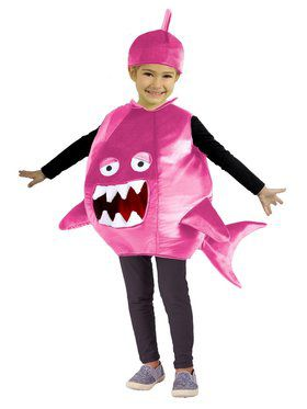 Child Feed Me Pink Shark Costume