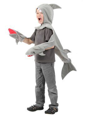 Child Shark Hooded Shawl Costume