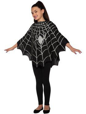 Child Spider Poncho Costume