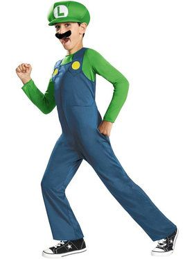 Luigi (Super Mario Bros) Costume for Kids