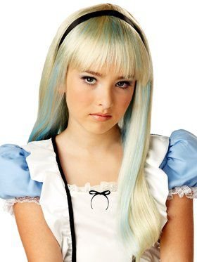 Alice in Wonderland Child Blonde Wig and Headband