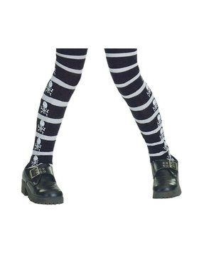 Skull and Bones Tights for Children