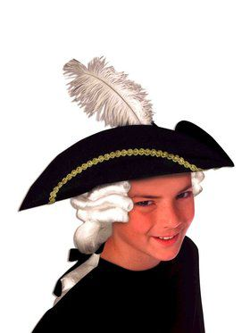 Childs Colonial Hat With Wig