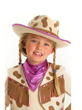 Childs Deluxe Rhinestone Cowgirl Hat