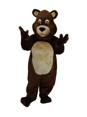 Adult Chocolate Teddy Bear Mascot Costum