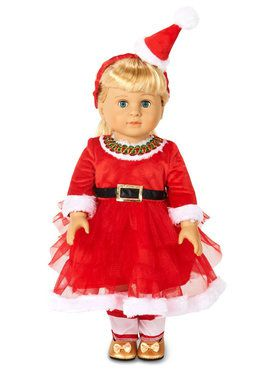 "Christmas Diva 18"" Doll Costume"