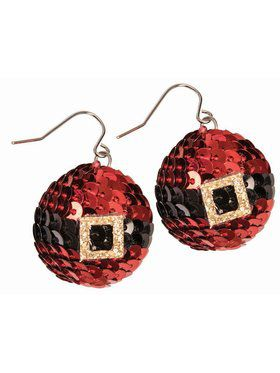 Christmas Earring - Red Sequin