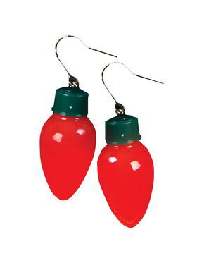 Christmas Light Bulb Earrings