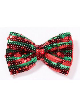 Christmas Sequin Bow Tie