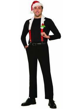 Christmas Suspenders with Collar