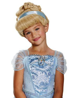 Cinderella Deluxe Child Wig One Size