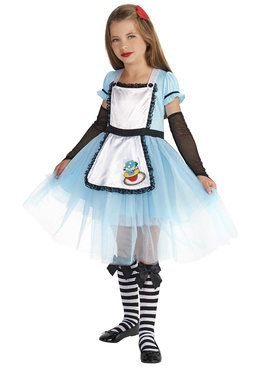 Classic Alice Child with Knee Highs Hair Clip Costume