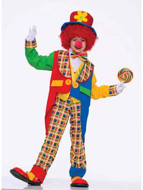 Colorful Clown Around Town Child Costume
