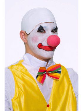 Clown Bald Wig - White
