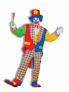 Clown on the Town Costume for Adults