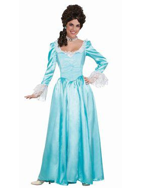 Colonial Lady - Blue - Large Adult Costume
