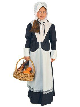 Pilgrim Child Costume for Girls (Medium Size)