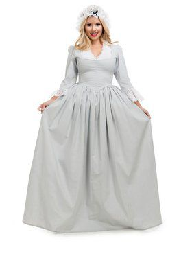 Colonial Woman - Grey Adult Costume